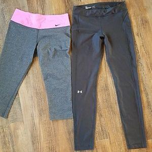 Bundle of 2 workout pants medium